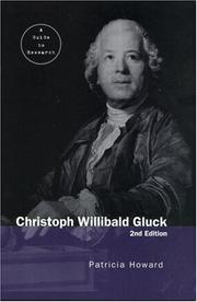 Cover of: Christoph Willibald Gluck
