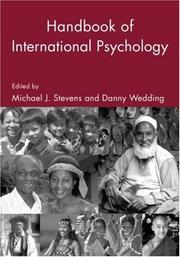 Cover of: The Handbook of International Psychology