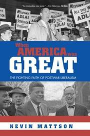 Cover of: When America Was Great