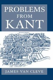Cover of: Problems from Kant