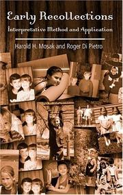 Cover of: Early recollections | Harold H. Mosak