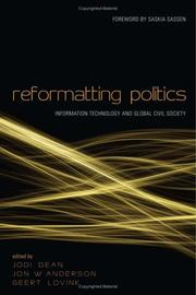 Cover of: Reformatting politics