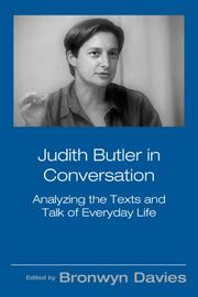 Cover of: Judith Butler in Conversation