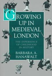 Cover of: Growing up in medieval London
