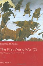 Cover of: The First World War, Vol. 3