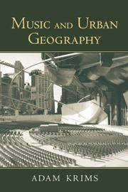 Cover of: Music and Urban Geography