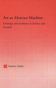 Cover of: Art as abstract machine | Stephen Zepke