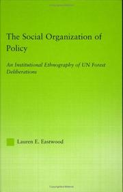 social organization of policy