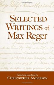 Cover of: Selected writings of Max Reger