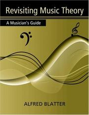 Cover of: Revisiting Music Theory