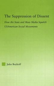 Cover of: suppression of dissent | Jules Boykoff