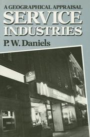 Cover of: Service industries | P. W. Daniels
