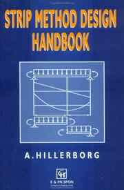 Cover of: Strip method design handbook