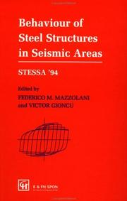 Cover of: Behaviour of Steel Structures in Seismic Areas