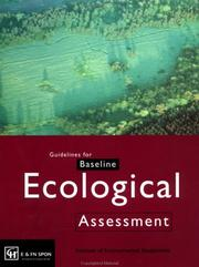 Cover of: Guidelines for baseline ecological assessment