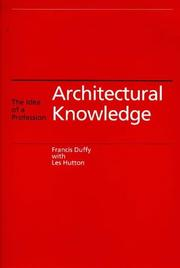 Cover of: Architectural knowledge