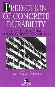 Cover of: Prediction of concrete durability