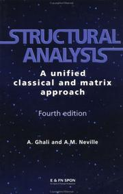 Structural analysis by A. Ghali, Amin Ghali, Adam M. Neville