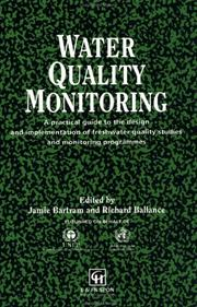 Cover of: Water Quality Monitoring