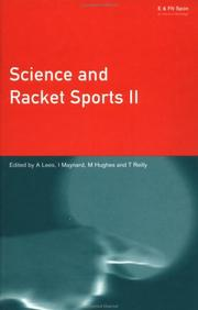 Cover of: Science and Racket Sports 2 (Science and Racket Sports)