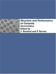 Cover of: Structure and performance of cements |