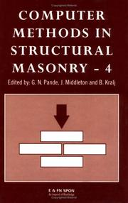 Cover of: Computer methods in structural masonry-4