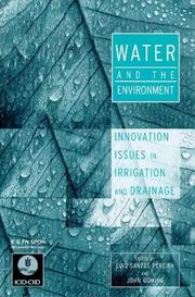 Cover of: Water and the environment