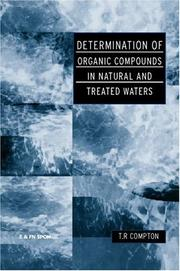 Cover of: Determination of organic compounds in natural and treated waters