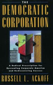 Cover of: The democratic corporation