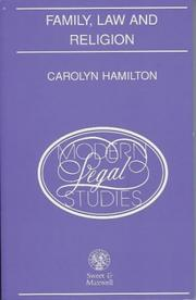 Cover of: Family, law, and religion | Hamilton, Carolyn LL.B.