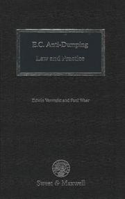 Cover of: E.C. anti-dumping law and practice