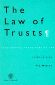 Cover of: The Law of Trusts (Fundamental Principles of Law)
