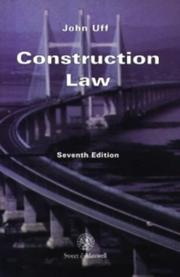 Cover of: Construction law