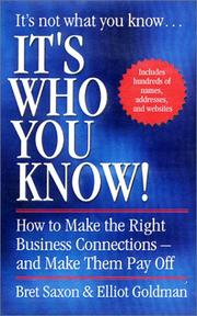 Cover of: It's Who You Know