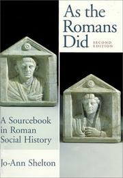 Cover of: As the Romans did
