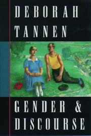 Cover of: Gender and discourse | Deborah Tannen
