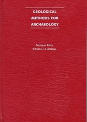Cover of: Geological methods for archaeology