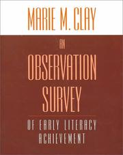 An observation survey of early literacy achievement by Marie M. Clay