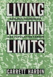 Cover of: Living within Limits