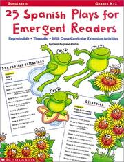 Cover of: 25 Spanish Plays for Emergent Readers (Grades K-1)
