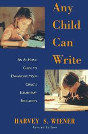 Cover of: Any child can write