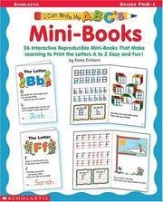 Cover of: I Can Write My ABC's Mini-Books (I Can Write My ABC's)