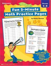 Cover of: Fun, 5-Minute Math Practice Pages | Denise Kiernan