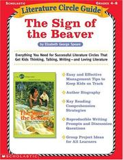 Cover of: The Sign of the Beaver (Literature Circle Guide) | Tara McCarthy