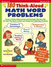 Cover of: 180 Think-Aloud Math Word Problems (Grades 4-6) | Denise Nessel