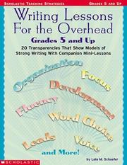 Cover of: Writing lessons for the overhead: Grades 5 And Up