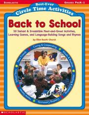 Cover of: Back to School (Best-Ever Circle Time Activities, Grades PreK-1)