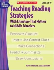 Cover of: Teaching Reading Strategies With Literature That Matters to Middle Schoolers | Nancy Fordham