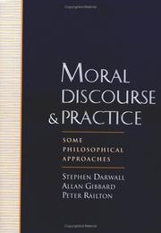 Cover of: Moral Discourse and Practice |