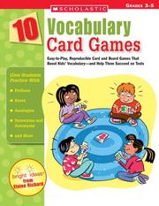 Cover of: 10 Vocabulary Card Games | Elaine Richard